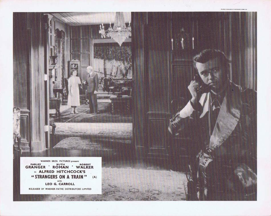 STRANGERS ON A TRAIN Front of House Movie Still 3 Alfred Hitchcock Robert Walker