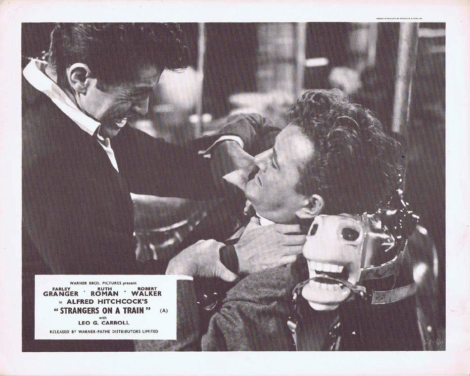 STRANGERS ON A TRAIN Front of House Movie Still 4 Alfred Hitchcock Farley Granger
