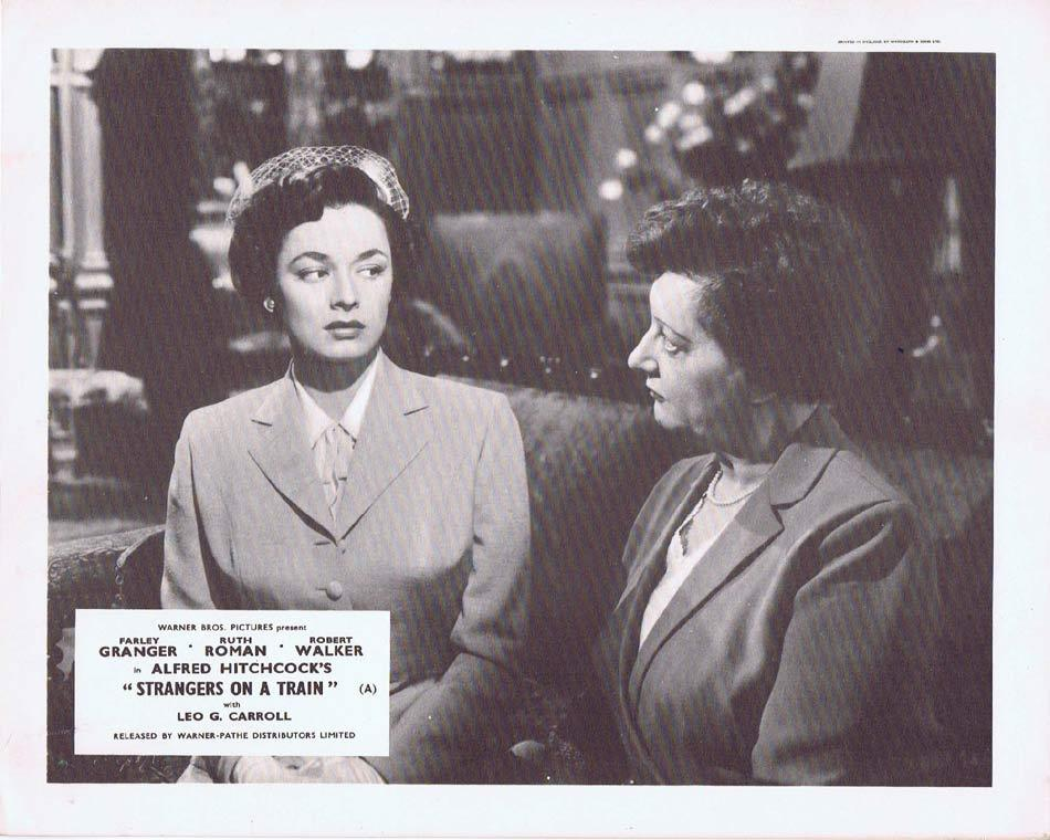 STRANGERS ON A TRAIN Front of House Movie Still 5 Alfred Hitchcock Ruth Roman