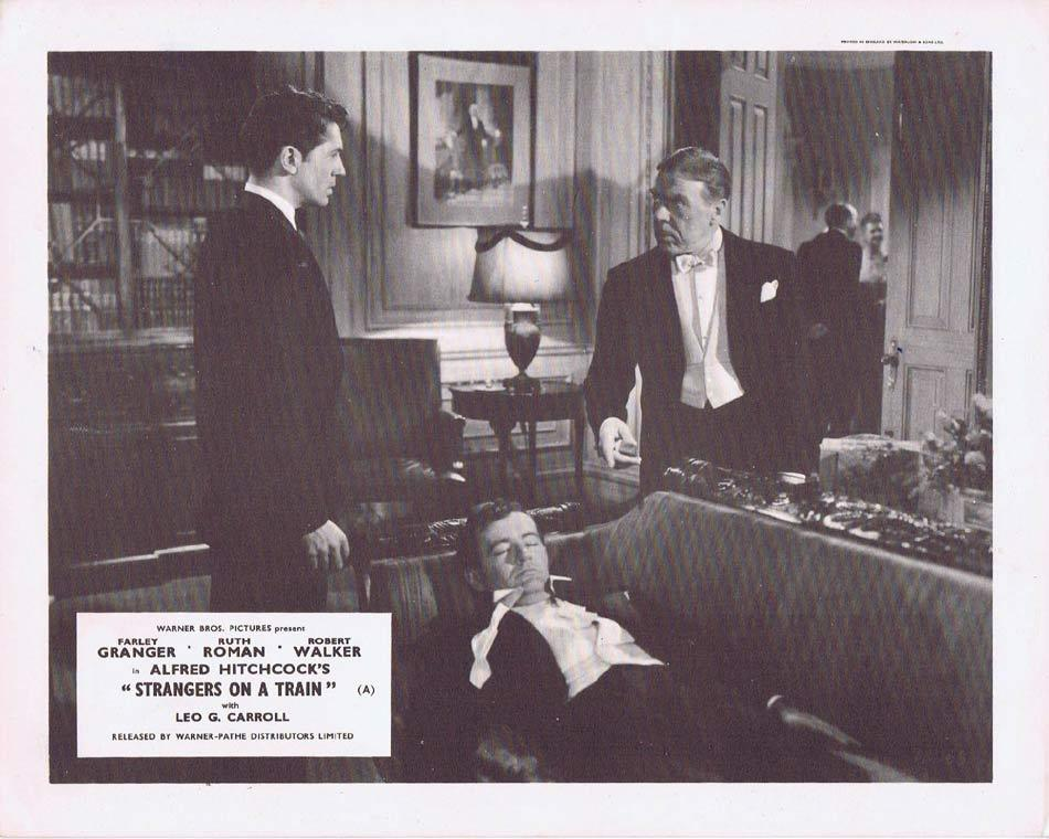 STRANGERS ON A TRAIN Front of House Movie Still 7 Alfred Hitchcock Leo G.Carroll