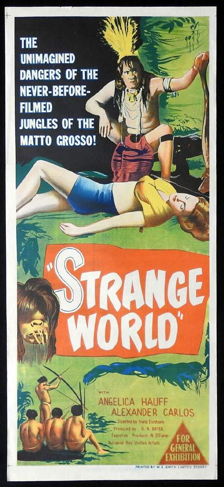 STRANGE WORLD Daybill Movie Poster Tribal Headhunters Amazon Angelika Hauff
