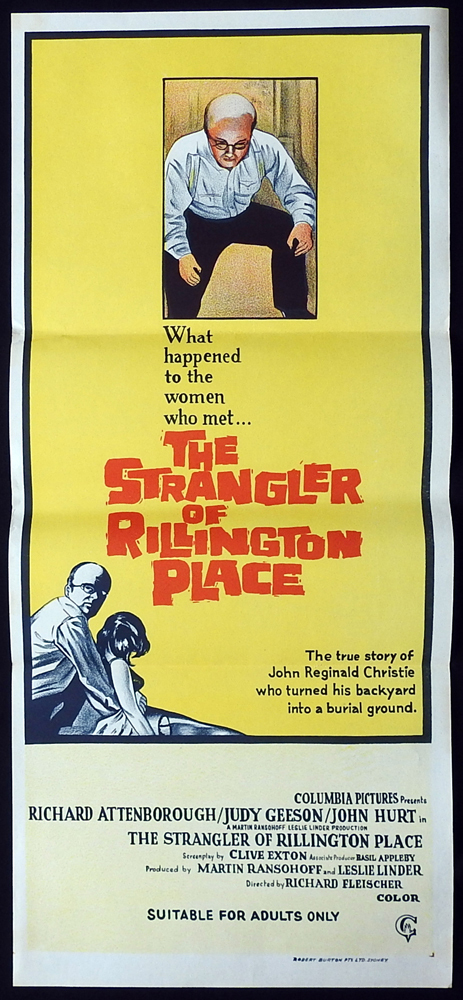 THE STRANGLER OF RILLINGTON PLACE Original Daybill Movie Poster Richard Attenborough