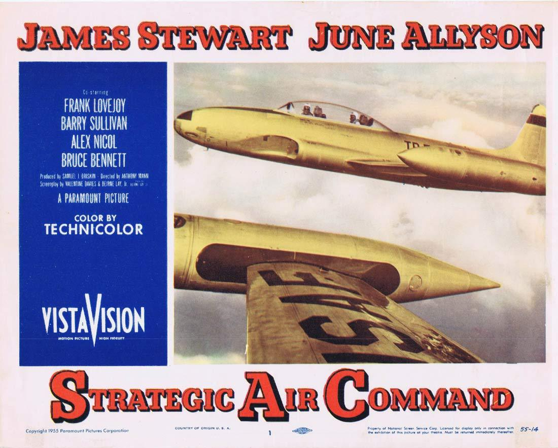 STRATEGIC AIR COMMAND Original Lobby Card 1James Stewart June Allyson Frank Lovejoy