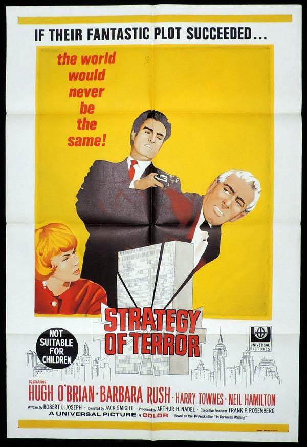 STRATEGY OF TERROR One Sheet Movie Poster Hugh O'Brian
