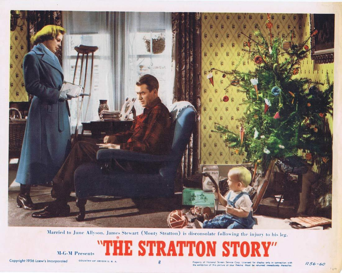 THE STRATTON STORY Lobby Card James Stewart June Allyson 1956r