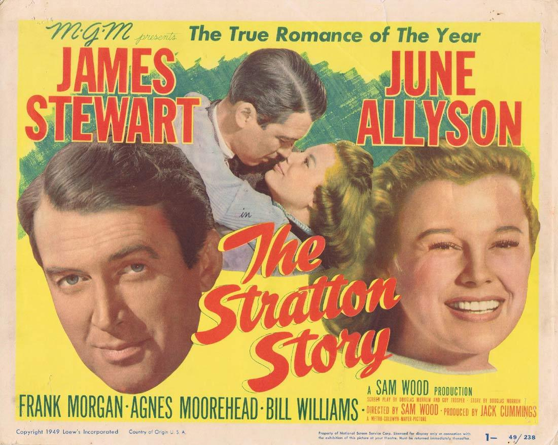 THE STRATTON STORY Title Lobby Card James Stewart June Allyson