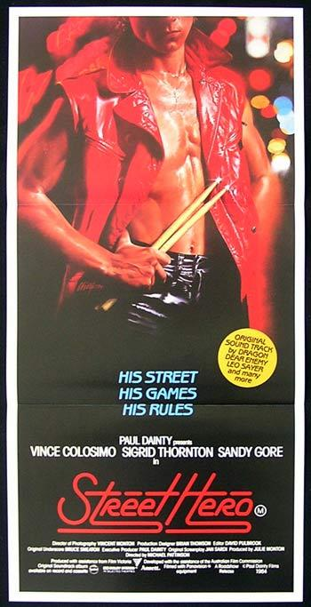 STREET HERO 1984 Dragon Leo Sayer ORIGINAL Australian Daybill Movie poster
