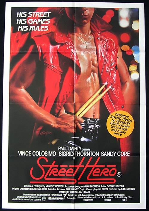 STREET HERO 1984 Dragon Leo Sayer ORIGINAL One Sheet Movie poster