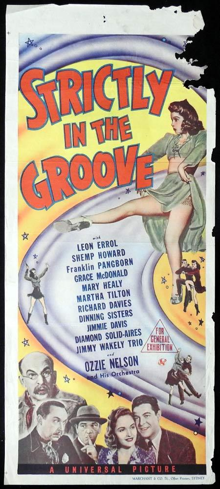STRICTLY IN THE GROOVE Original daybill Movie Poster 1942 Marchant Graphics