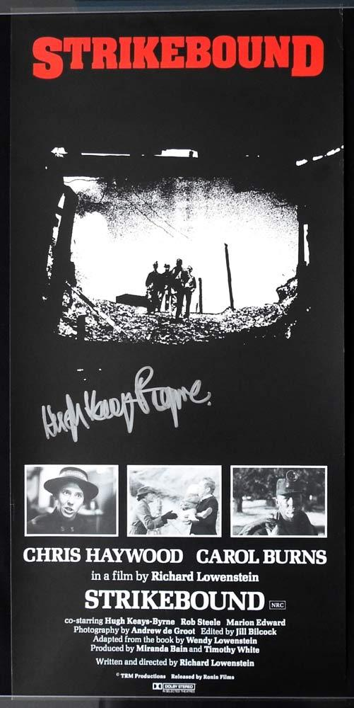 STRIKEBOUND Daybill Movie poster AUTOGRAPHED by Hugh Keays Byrne