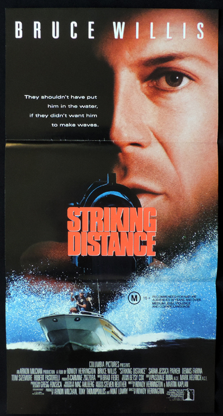 STRIKING DISTANCE ORIGINAL Daybill Movie poster Bruce Willis