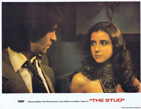 THE STUD 1978 Lobby Card 1 Joan Collins Oliver Tobias