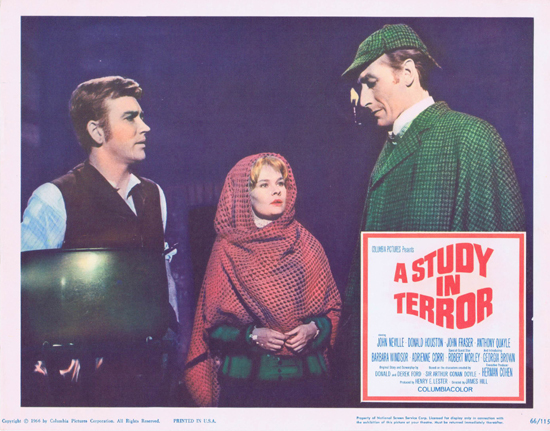 A STUDY IN TERROR 1966 Sherlock Holmes US Lobby card 2