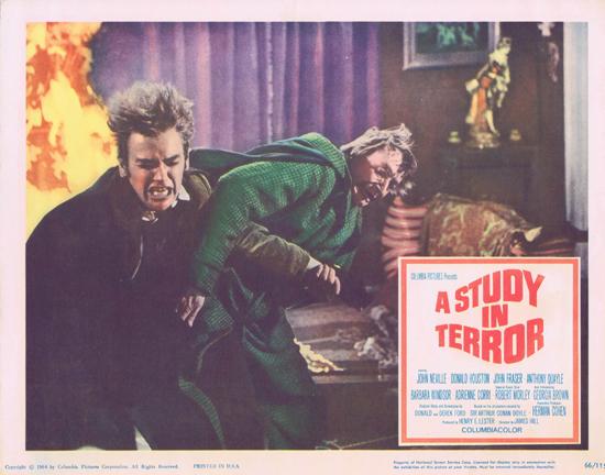 A STUDY IN TERROR 1966 Sherlock Holmes US Lobby card 7