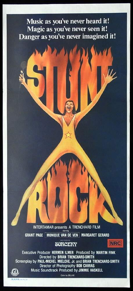 STUNT ROCK Original Daybill Movie Poster Grant Page SORCERY Monique van de Ven