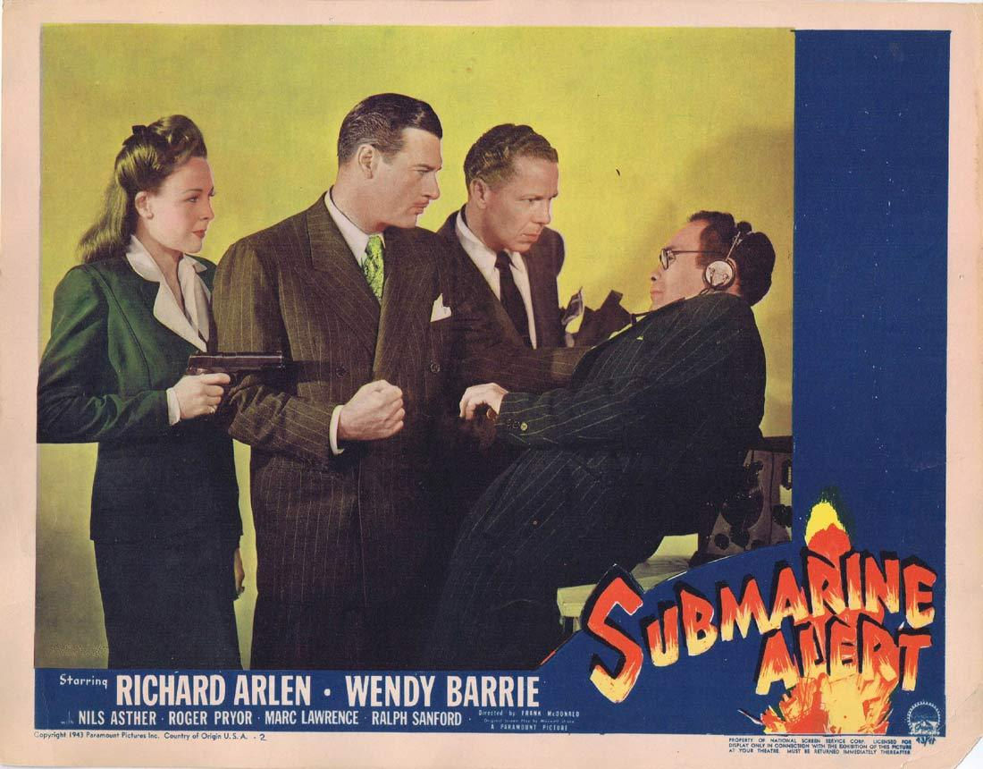 SUBMARINE ALERT Original Lobby Card 2 Richard Arlen Wendy Barrie Nils Asther