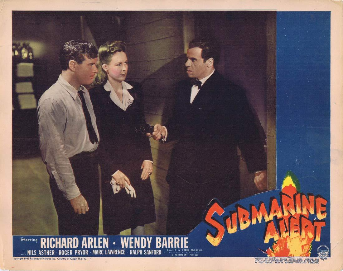 SUBMARINE ALERT Original Lobby Card 3 Richard Arlen Wendy Barrie Nils Asther