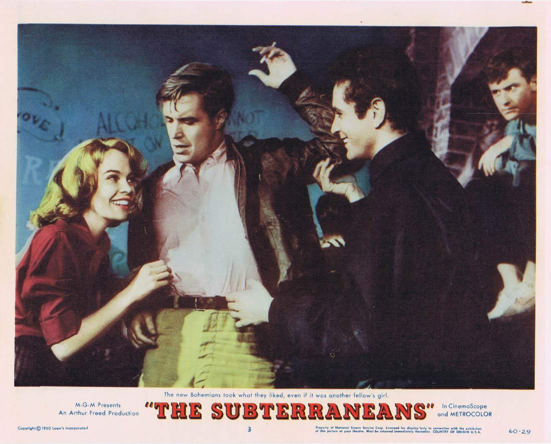 THE SUBTERRANEANS Lobby Card 3 Leslie Caron George Peppard Janice Rule