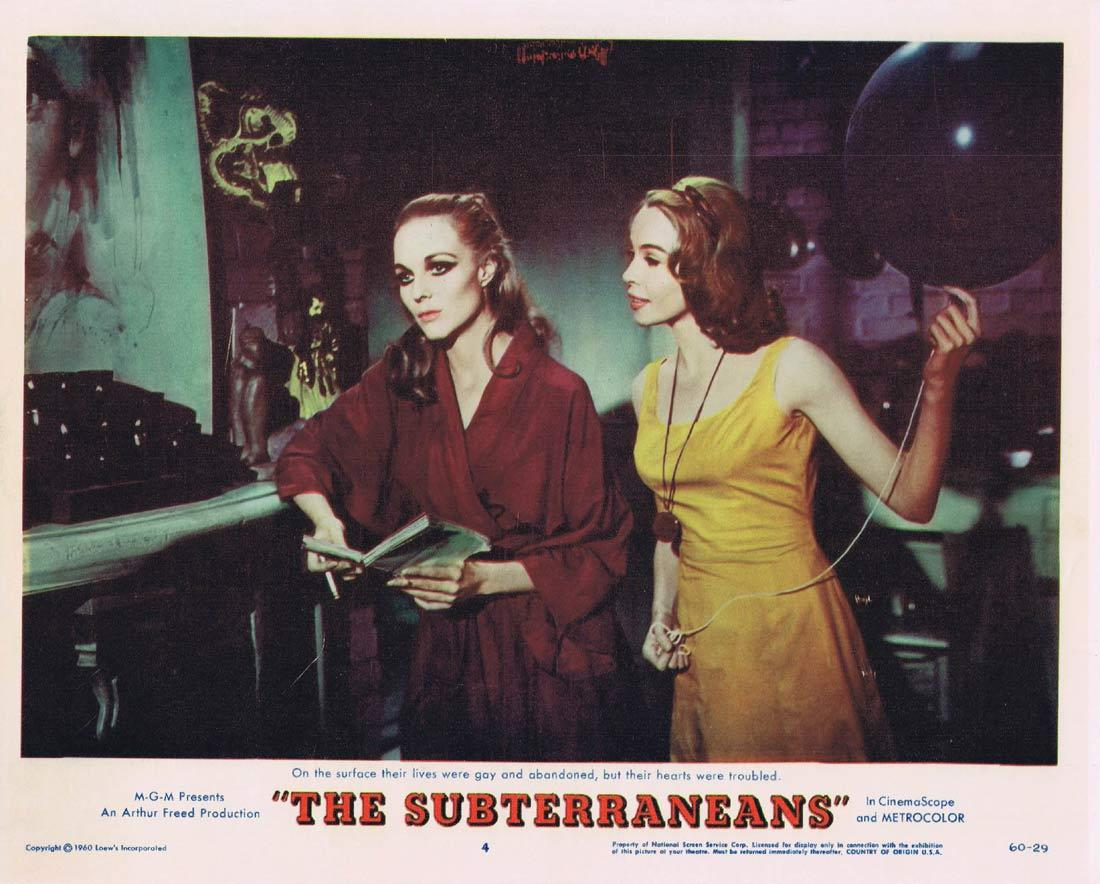 THE SUBTERRANEANS Lobby Card 4 Leslie Caron George Peppard Janice Rule