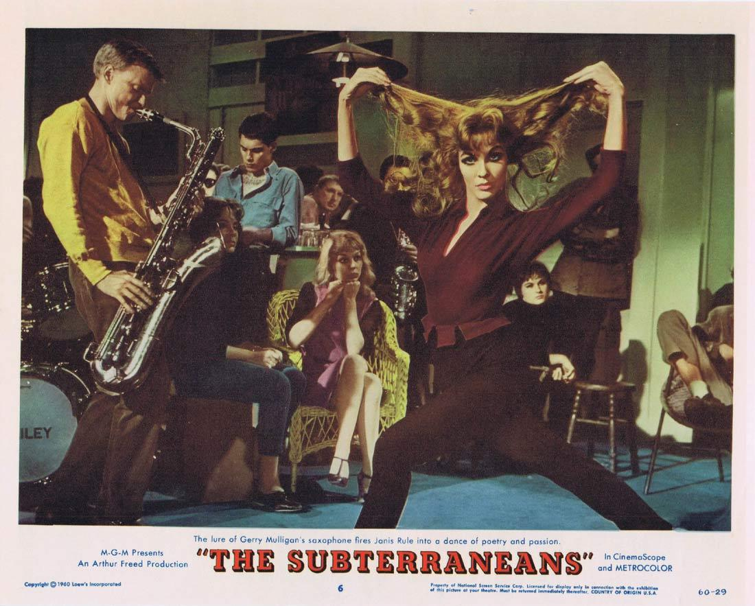 THE SUBTERRANEANS Lobby Card 6 Leslie Caron George Peppard Janice Rule