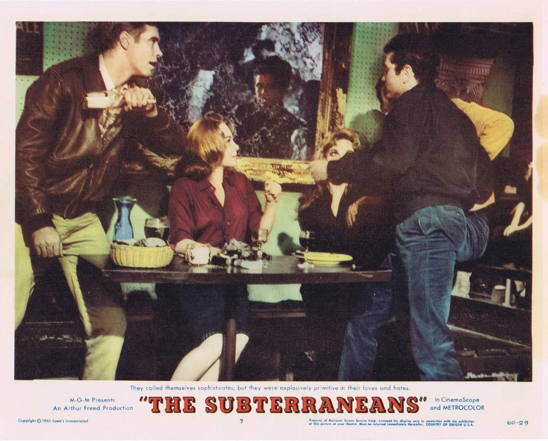 THE SUBTERRANEANS Lobby Card 7 Leslie Caron George Peppard Janice Rule