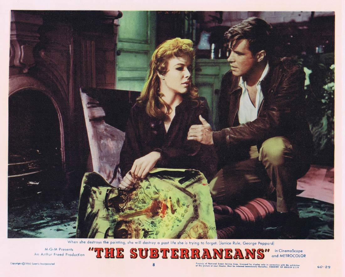 THE SUBTERRANEANS Lobby Card 8 Leslie Caron George Peppard Janice Rule