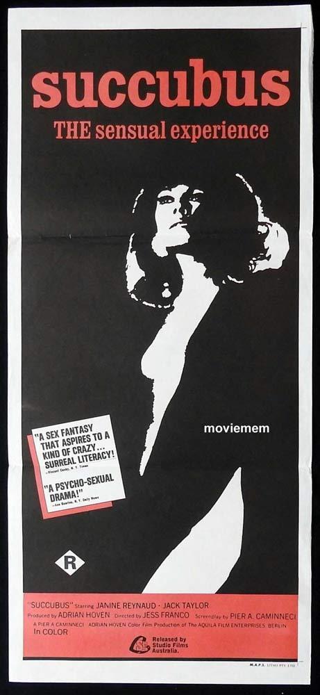 SUCCUBUS Original Daybill Movie Poster Janine Reynaud Jesus Franco