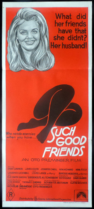 SUCH GOOD FRIENDS Original Daybill Movie poster Saul Bass Design