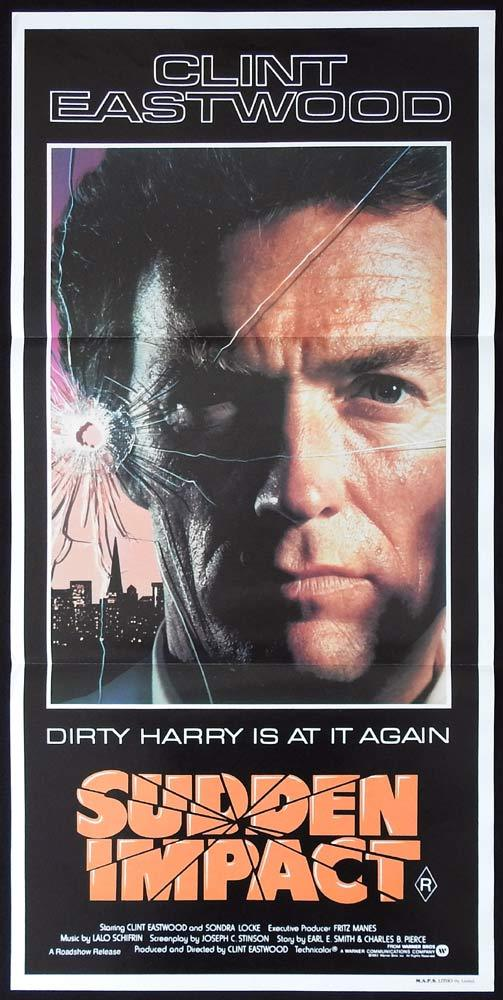 SUDDEN IMPACT Original Daybill Movie poster Clint Eastwood as Dirty Harry