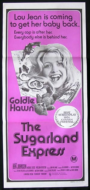 THE SUGARLAND EXPRESS Daybill Movie Poster 1974 Goldie Hawn Ben Johnson