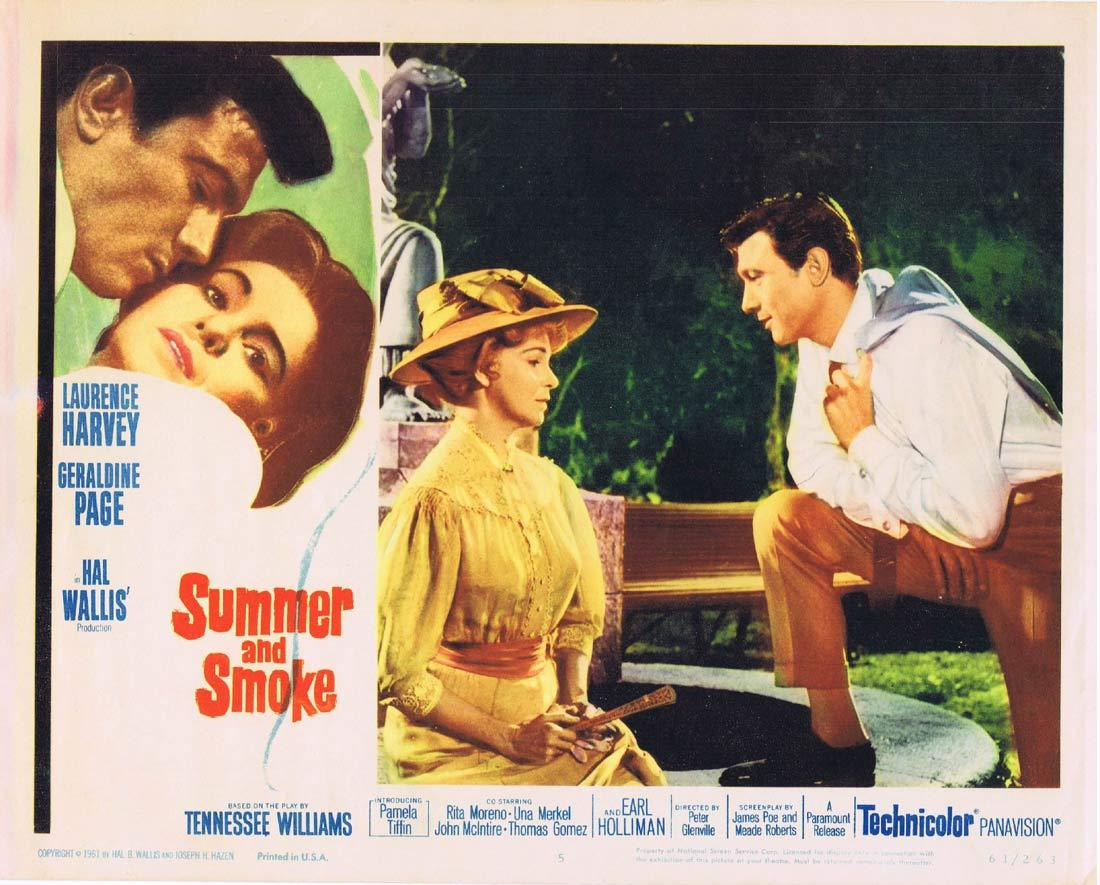 SUMMER AND SMOKE Original Lobby Card 5 Laurence Harvey Geraldine Page