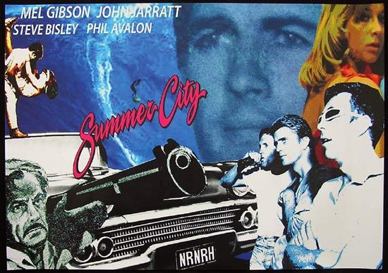 "SUMMER CITY 2010r Mel Gibson Steve Bisley Movie poster ""A"""