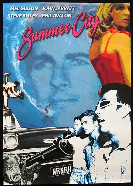 "SUMMER CITY 2010r Mel Gibson Phil Avalon Steve Bisley Movie poster ""B"""