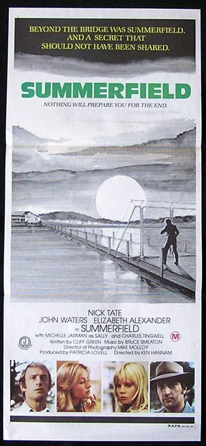 SUMMERFIELD 1977 Nick Tate John Waters Australian Daybill Movie poster