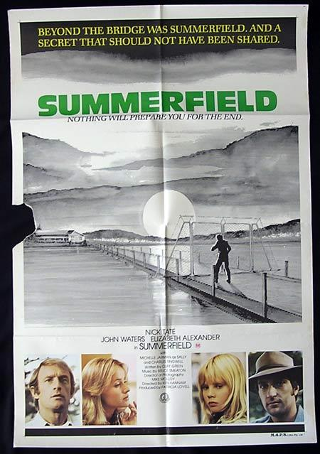 SUMMERFIELD Movie Poster 1977 Nick Tate John Waters Australian One sheet