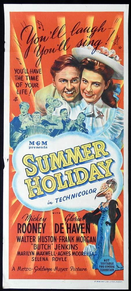 SUMMER HOLIDAY Original Daybill Movie poster Mickey Rooney Gloria DeHaven