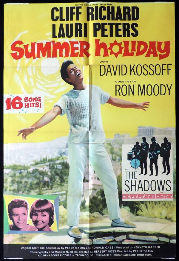 SUMMER HOLIDAY British One Sheet Movie Poster Cliff Richard