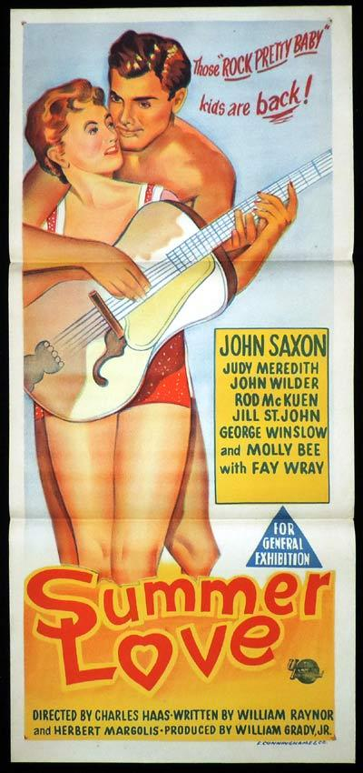 SUMMER LOVE Daybill Movie Poster John Saxon Rock Pretty Baby