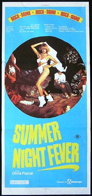 SUMMER NIGHT FEVER Original Daybill Movie poster Disco