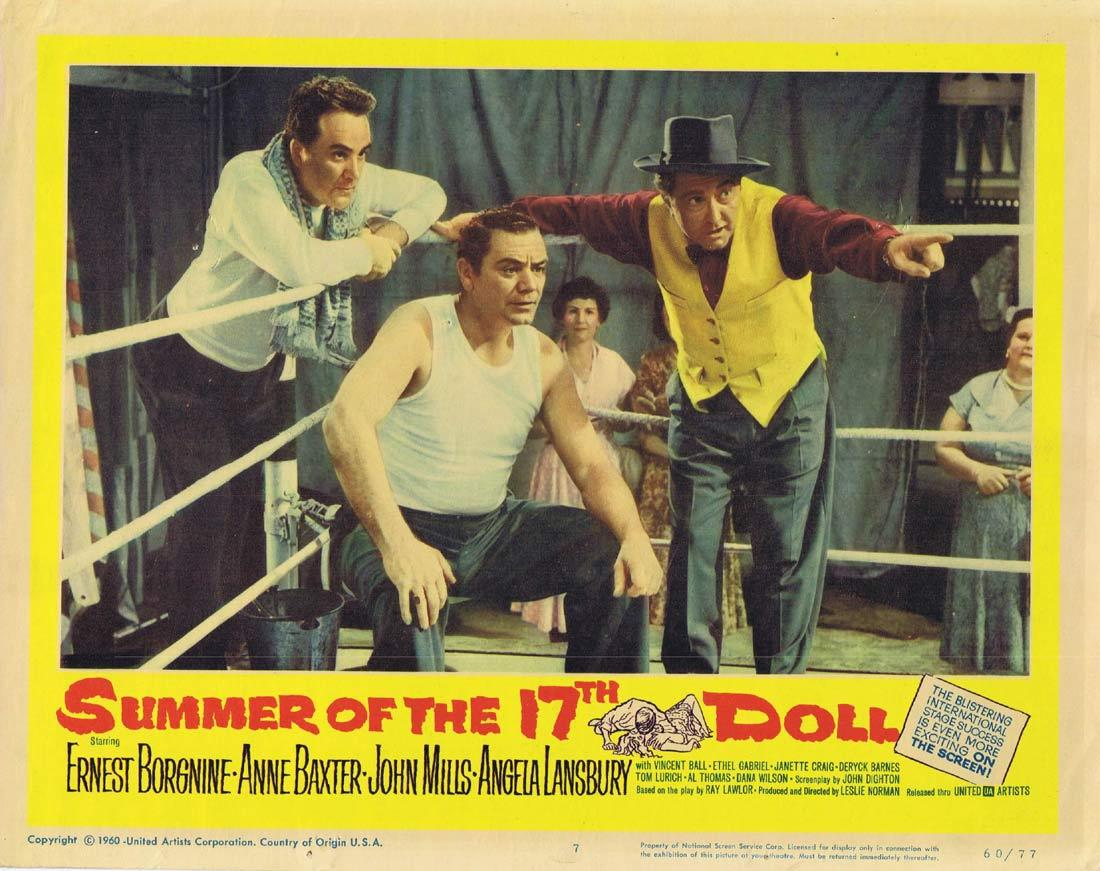 SUMMER OF THE SEVENTEENTH DOLL Original Lobby Card 7 Ernest Borgnine Anne Baxter Angela Lansbury