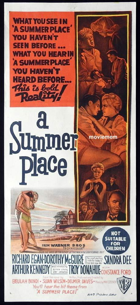 A SUMMER PLACE Original Daybill Movie Poster Richard Egan Dorothy McGuire