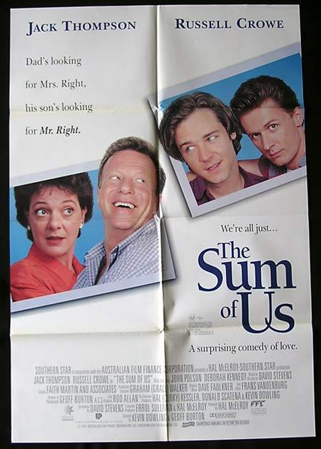 THE SUM OF US Movie Poster 1994 John Polson Jack Thompson Australian One sheet