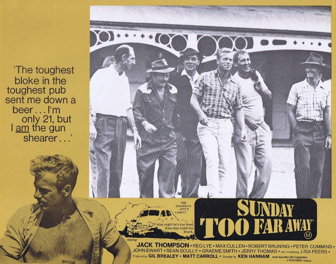 SUNDAY TOO FAR AWAY Original Lobby Card 3 1975 Jack Thompson Shearing