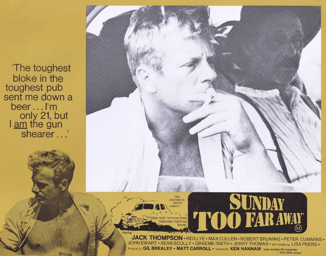 SUNDAY TOO FAR AWAY Original Lobby Card 5 1975 Jack Thompson Shearing