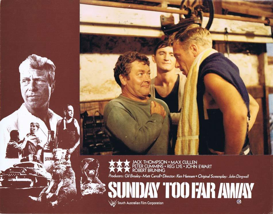 SUNDAY TOO FAR AWAY Lobby Card 1 SA Film Corporation Shearing