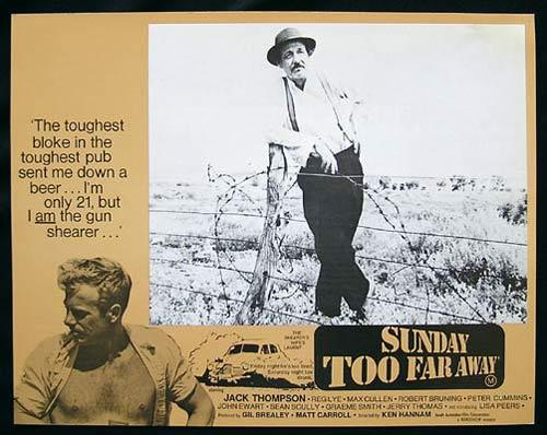 SUNDAY TOO FAR AWAY 1975 Jack Thompson SHEARING Lobby Card 3
