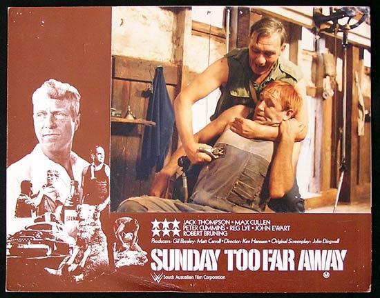 SUNDAY TOO FAR AWAY Lobby Card 3 SA Film Corporation Shearing