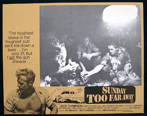 SUNDAY TOO FAR AWAY 1975 Jack Thompson SHEARING Lobby Card 5