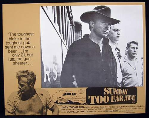 SUNDAY TOO FAR AWAY 1975 Jack Thompson SHEARING Lobby Card 6