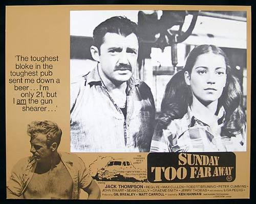 SUNDAY TOO FAR AWAY 1975 Jack Thompson SHEARING Lobby Card 7